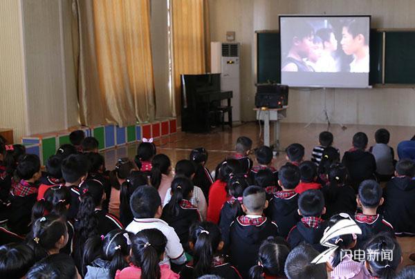 影視教育進校園 德州經開區學校師生觀看愛國勵志影片